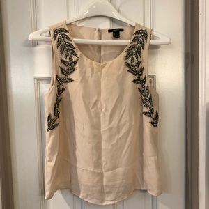 Cream embroiled shirt